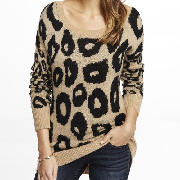 3e55dc55ba44 Express Sweaters   Leopard Print Sweater   Poshmark